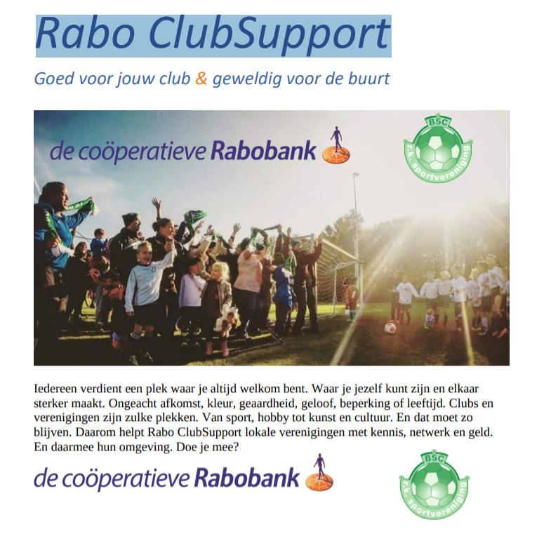 Rabo ClubSupport Actie 2021