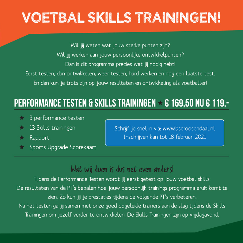 Voetbal Skills Trainingen!